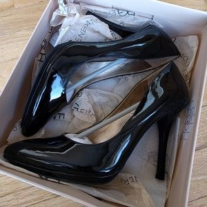 Size 8.5 Black Patent Leather BCBG Pointed Heels